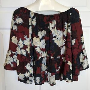 Eight Sixty Flowy Off the Shoulder Top